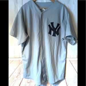 VINTAGE MAJESTIC MLB NY YANKEES PULLOVER JERSEY